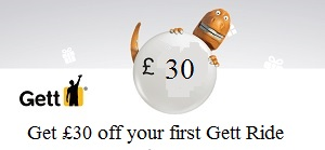 Gett £30 off next black cab ride