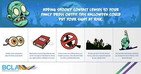 Halloween Warnings for Novelty Contact Lenses