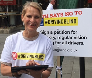 Campaigner for Driving Blind
