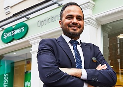 Mo Basharat at Specsavers Selby