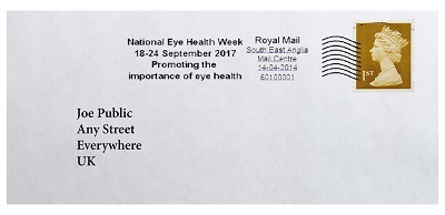 Letter message from Royal Mail