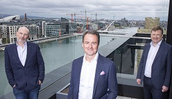 Fergal McAleavy, Senior Investment Director ISIF; Leo Mac Canna, Founder and CEO, Ocuco; Nick Ashmore, Director, ISIF. Picture Fennell Photography Fergal McAleavy, Senior Investment Director ISIF; Leo Mac Canna, Founder and CEO, Ocuco; Nick Ashmore, Director, ISIF. Picture Fennell Photography