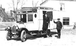 Oliver Goldsmith with van