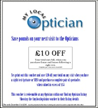 My Local Optician Voucher